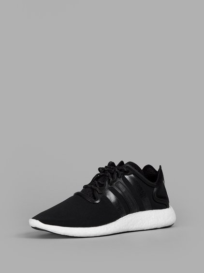 Yohji Run Suede-Trimmed Neoprene Sneakers