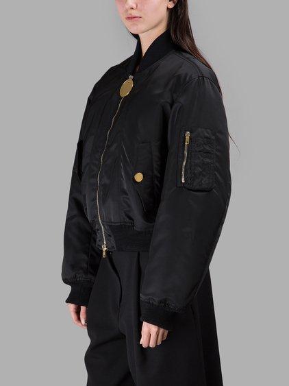 Exaggerated Zip Pull Bomber Jacket