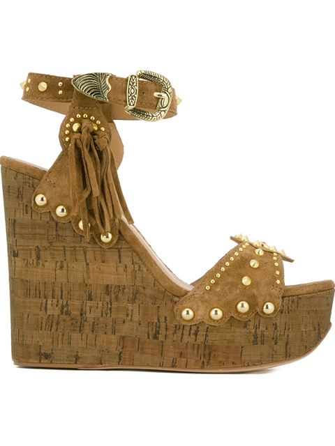 'Bliss' studded wedge sandals