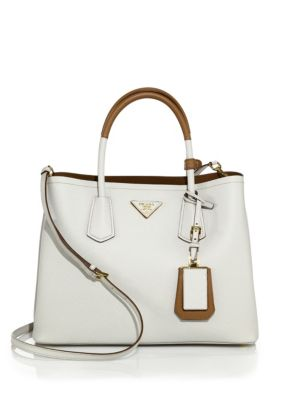 Medium Bicolor Leather Satchel