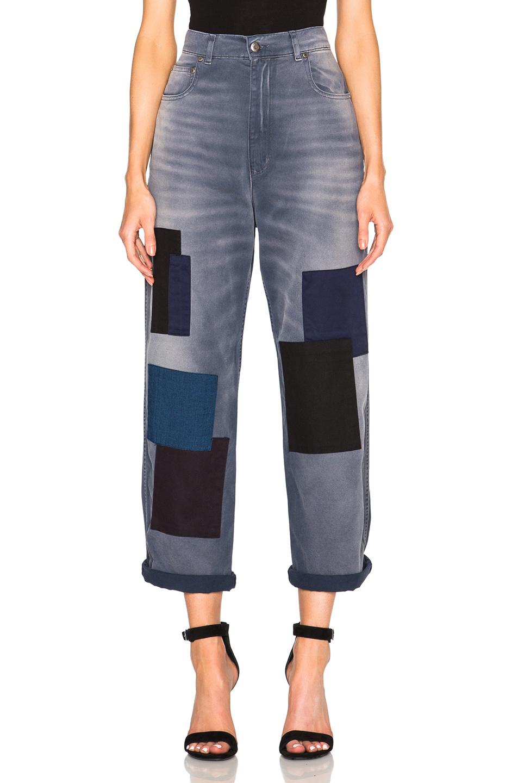 Kim Patchwork Boyfriend Jeans