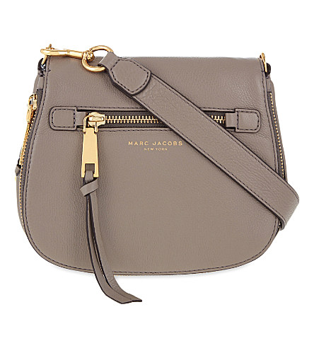 Recruit small grained leather saddle bag