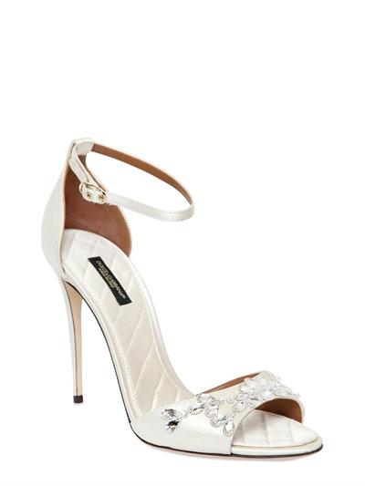 Swarovski crystal-embellished satin sandals