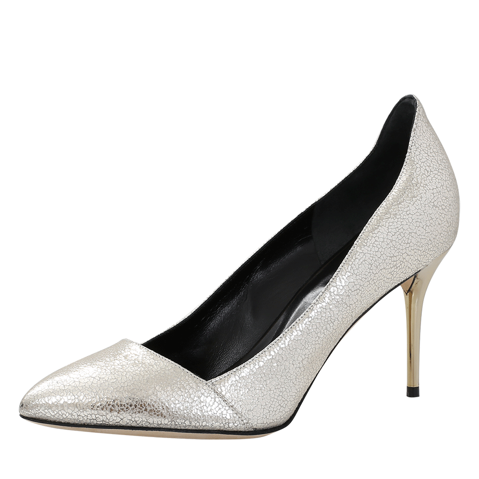 Cami Cracked Metallic Leather Heels