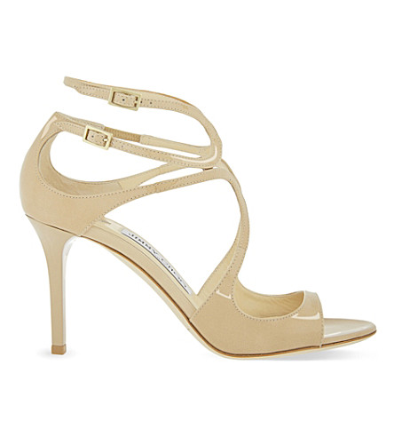 Lang 100 Patent-leather Sandals - IT39.5 Jimmy Choo London UJYRZf