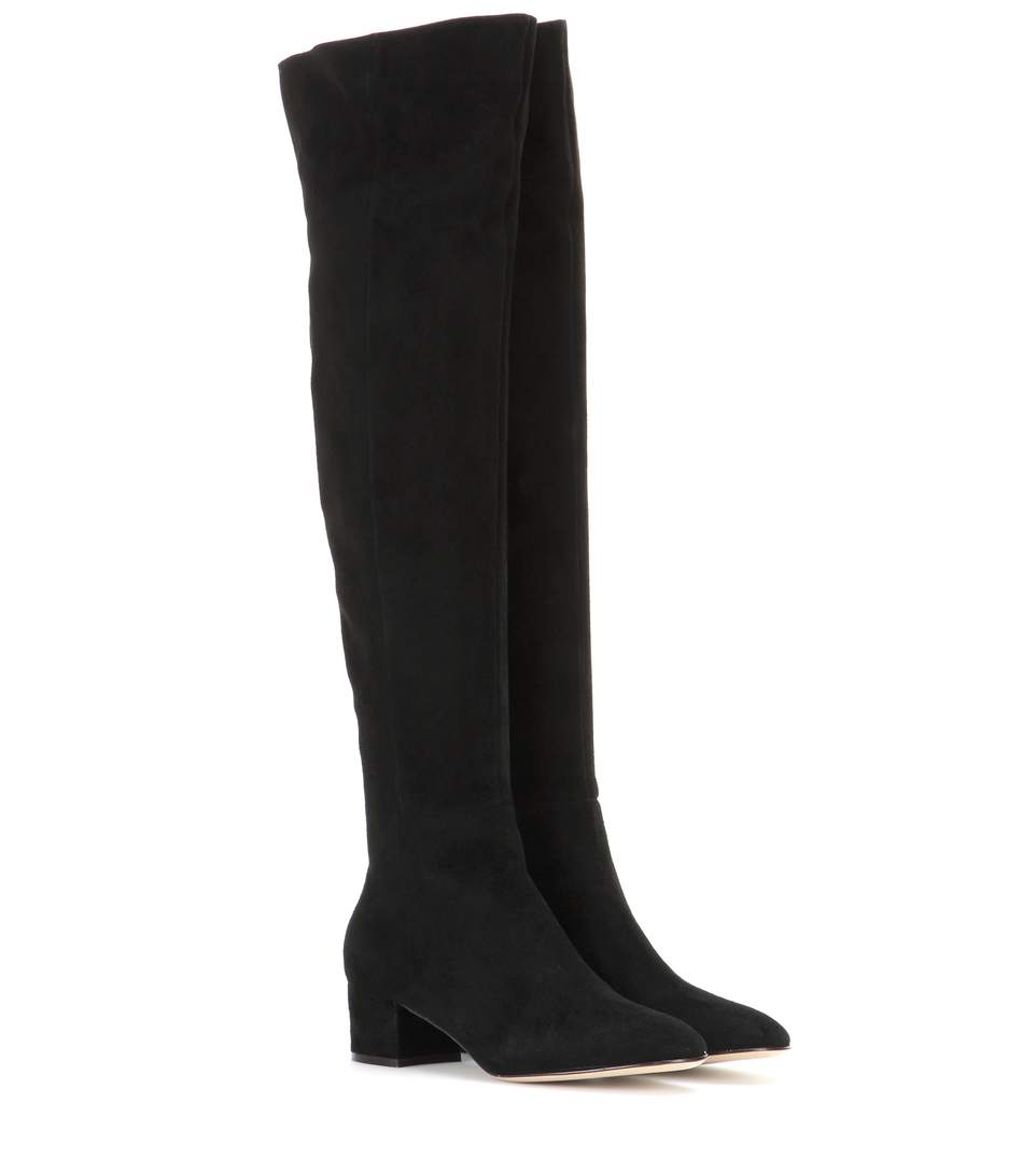 Rolling 85 over-the-knee suede boots