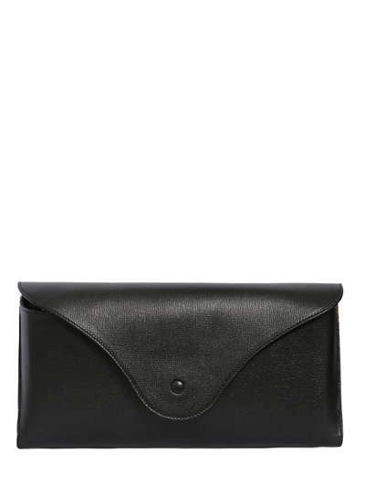 Black Leather Oversized Clutch