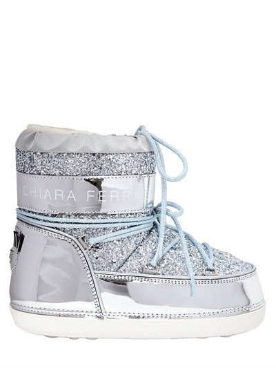 30MM GLITTER SNOW BOOTS, SILVER