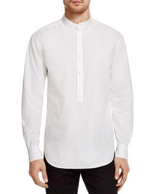 BLK DNM Band Collar Regular Fit Pullover Shirt