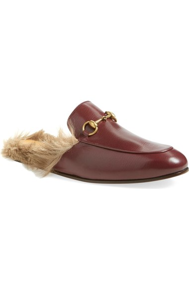 Gucci Sandals 'Princetown' Genuine Kangaroo Fur Lined Loafer (Men)