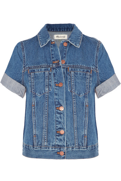 'Summer' Short Sleeve Denim Jacket
