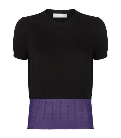 Cashmere-blend blouse