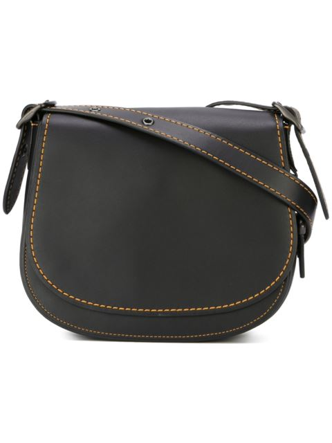 Glovetanned leather saddle bag 23