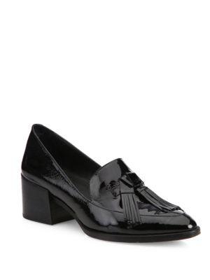 Rebecca Minkoff Denims Edie Tassel Patent Leather Block-Heel Oxfords