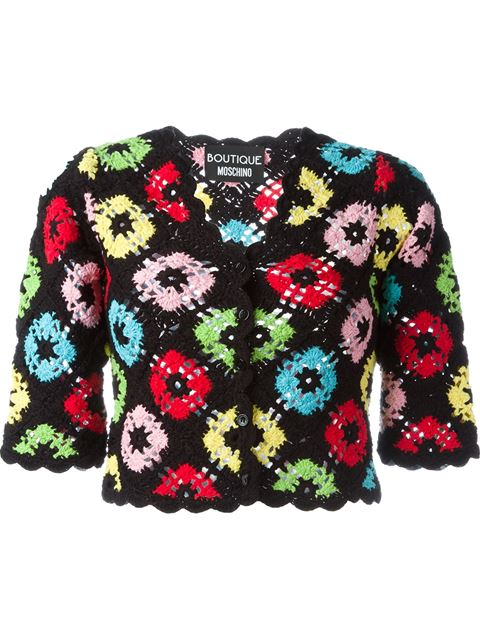 crochet cropped cardigan
