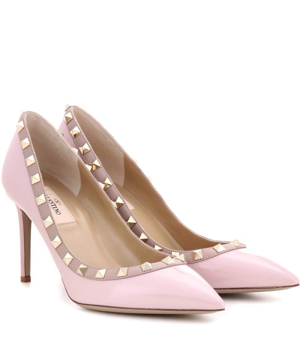 GARAVANI ROCKSTUD PATENT LEATHER PUMPS