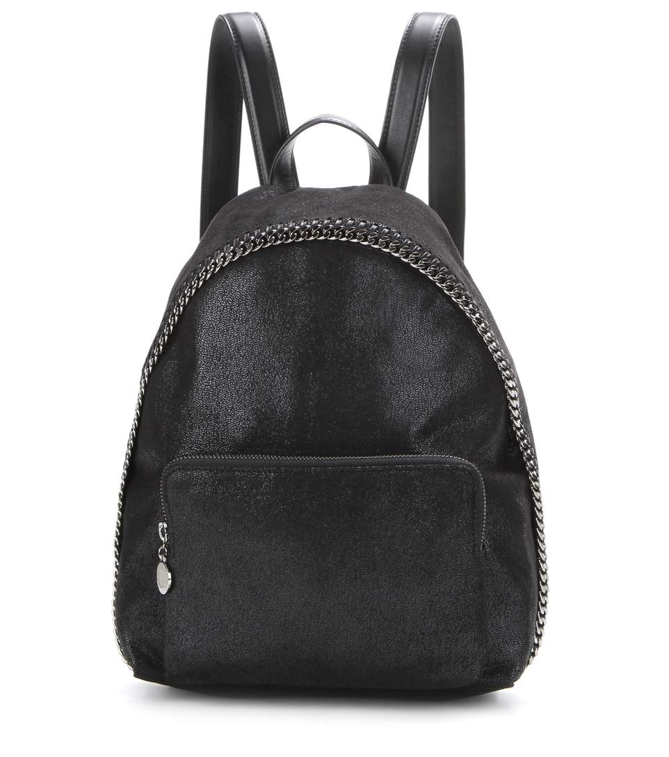 SMALL FALABELLA FAUX LEATHER BACKPACK - BLACK