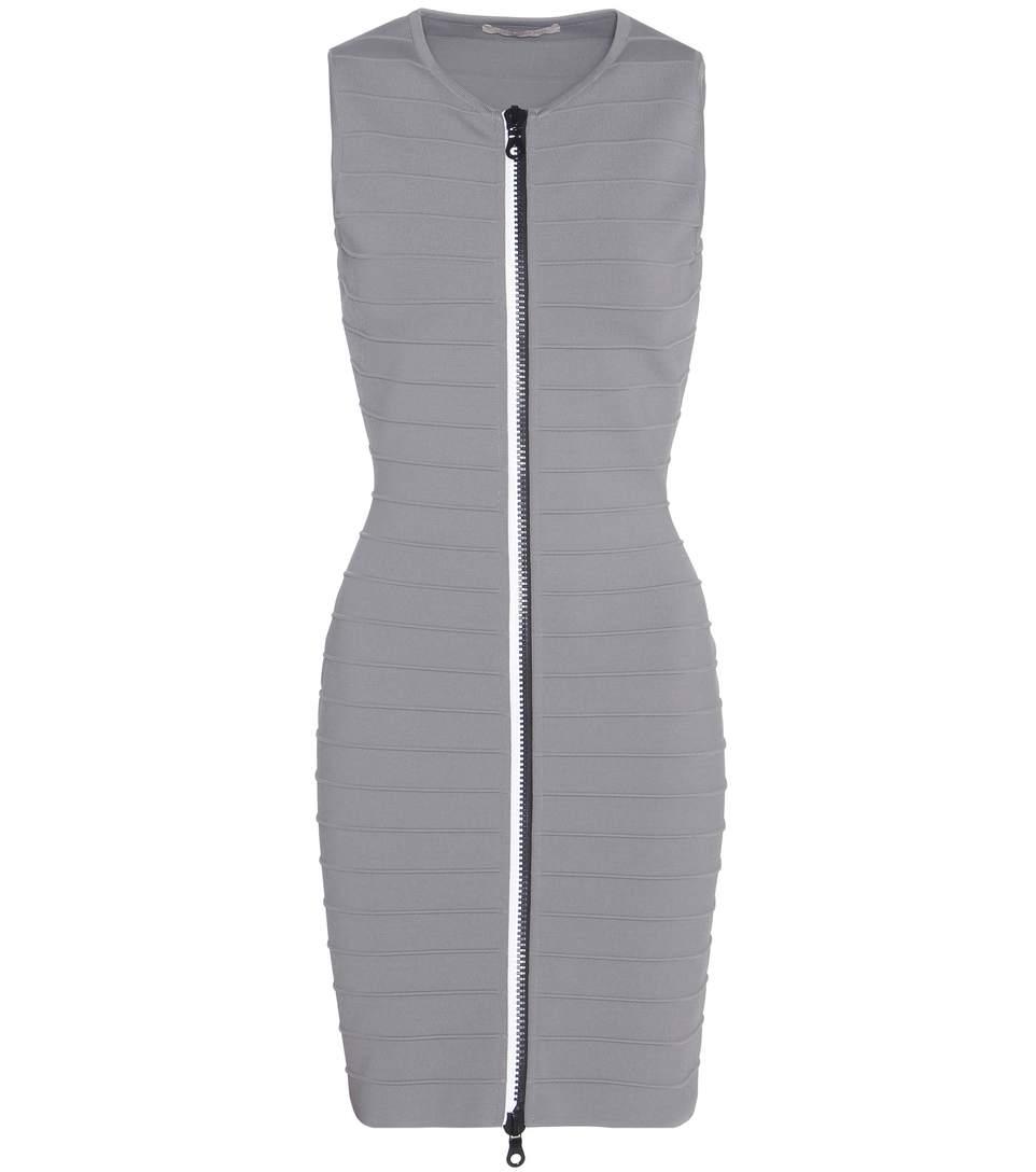 Sleeveless Zip Up Bandage Dress