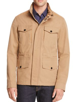 Leather Trim Utility Jacket