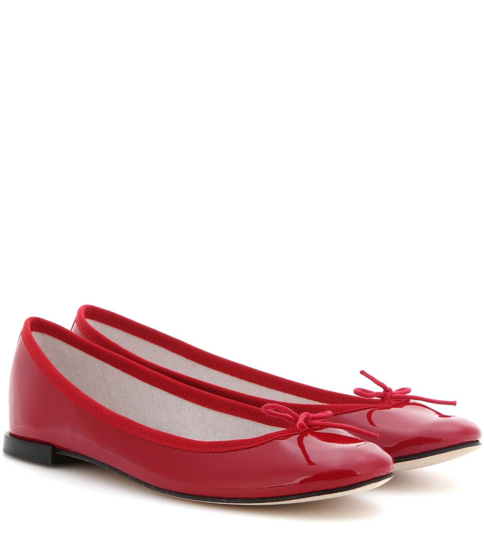 edcc4188d4d Repetto Cendrillon Patent Leather Ballet Flats In 550 Flamme