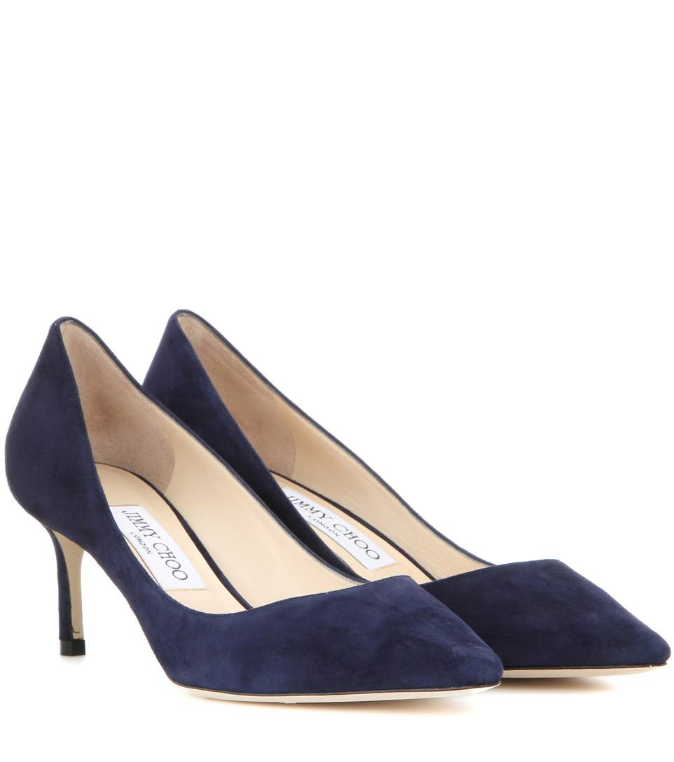 WOMEN'S ROMY 85 SUEDE POINTED TOE PUMPS