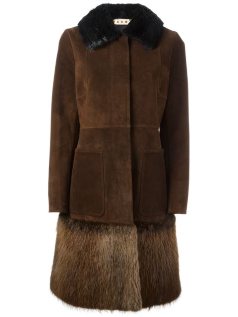 beaver fur trim coat