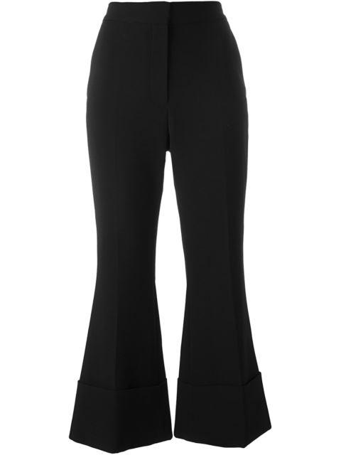 WOMAN GILDA WOOL-BLEND BOOTCUT PANTS BLACK