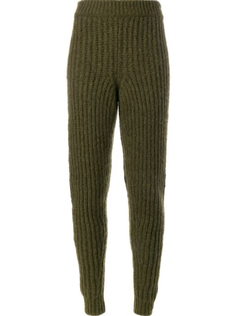 JW ANDERSON RIBBED KNIT TROUSERS
