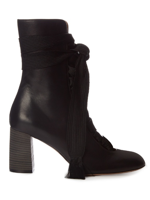 Harper lace-up leather ankle boots