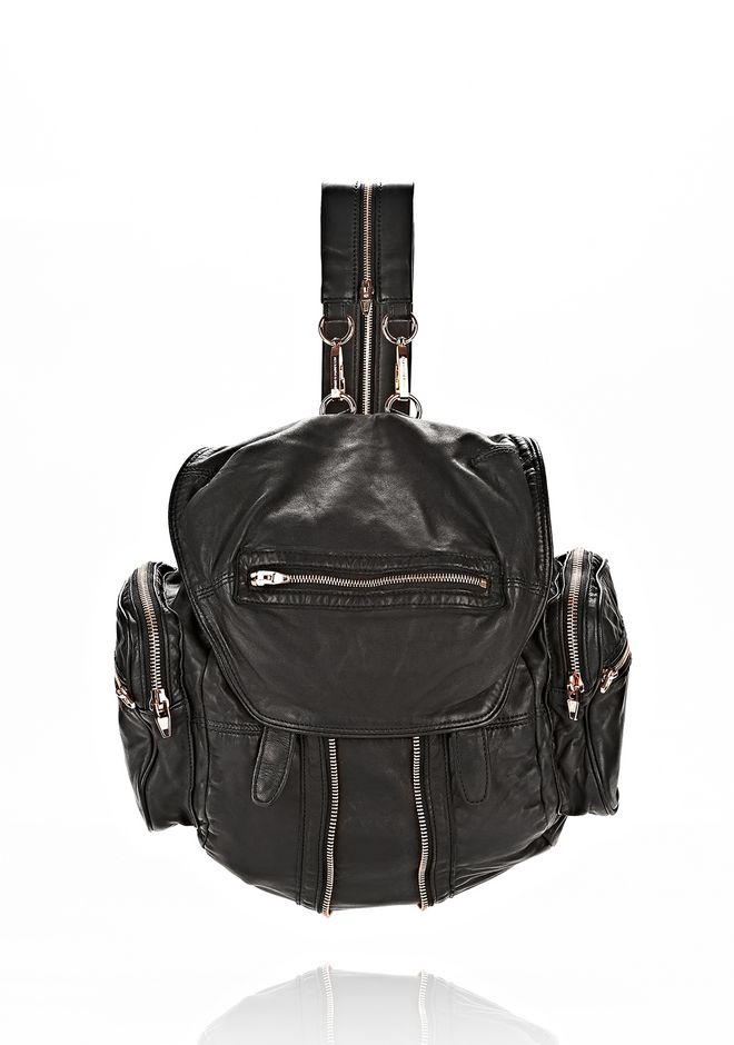 'Mini Marti' washed leather three-way backpack