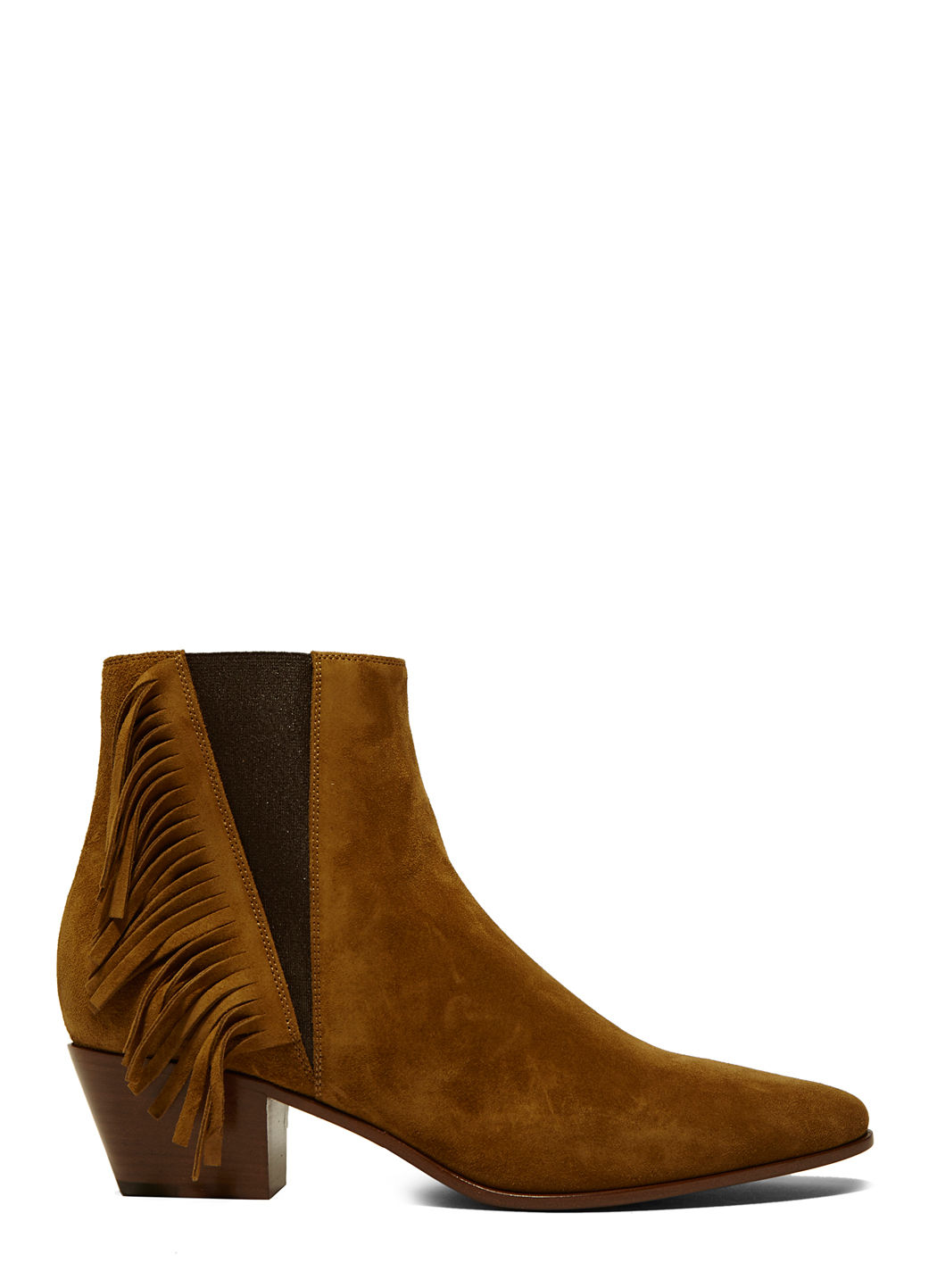 Women's Tasselled Chelsea Boots in Brown