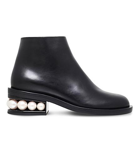 NICHOLAS KIRKWOOD Casati Leather Ankle Boots, Black
