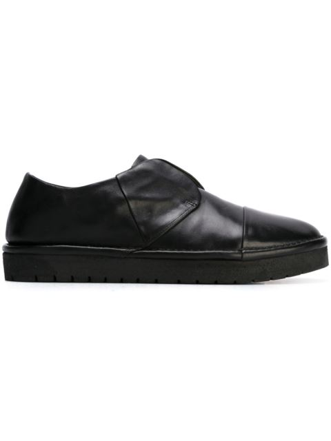 laceless rubber sole loafers