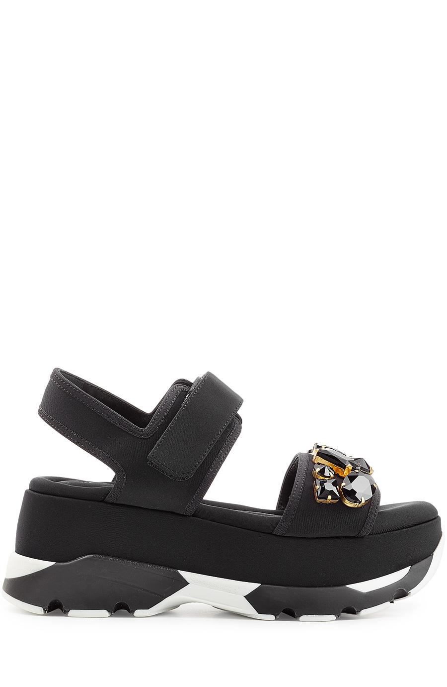 Embellished Flatform Sandals