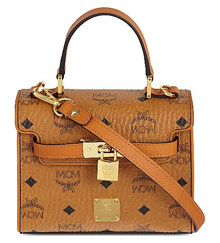 Heritage padlock leather satchel