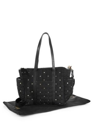Marissa Quilted & Studded Diaper Bag
