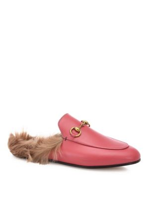 Princetown horsebit-detailed shearling-lined leather slippers