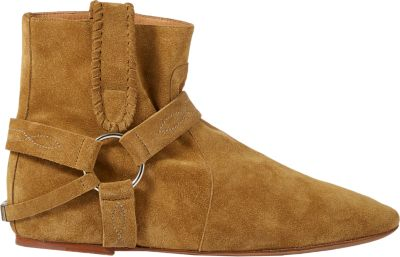Etoile 30Mm Ralf Suede Wedge Ankle Boots, Khaki