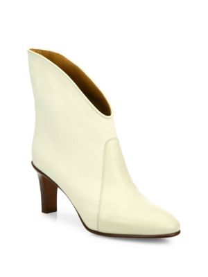 Kole canvas and leather ankle boots