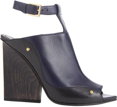 MAIYET Plated-Heel T-Strap Sandals