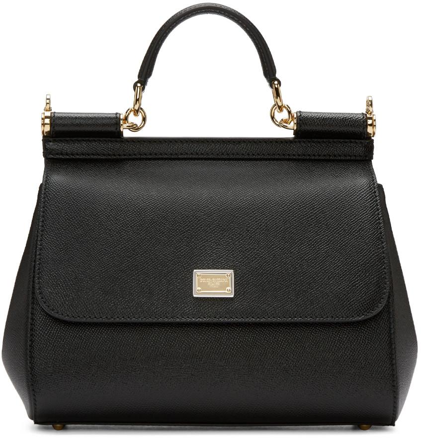 Black Medium Miss Sicily Bag