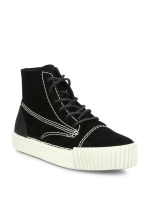 Perry Suede Platform High-Top Sneakers