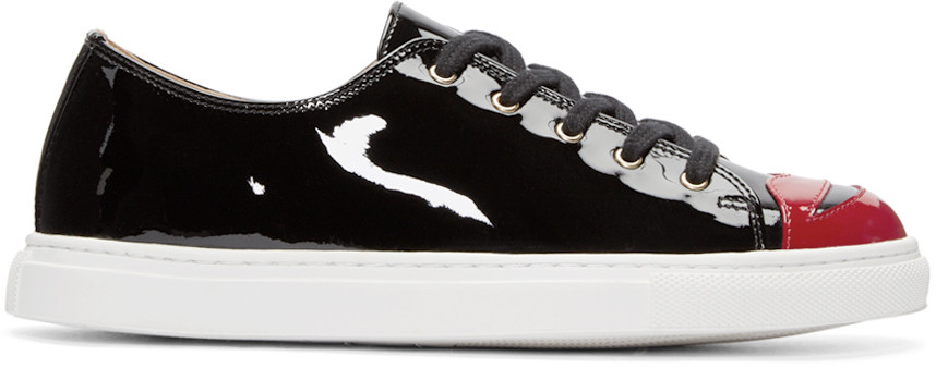 Kiss Me patent leather sneakers