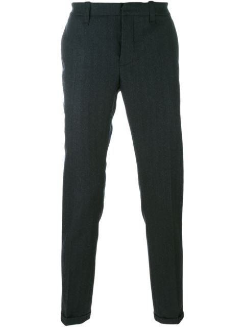 Dondup  DONDUP STRAIGHT TROUSERS - BLUE