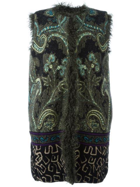 embroidered sleeveless coat