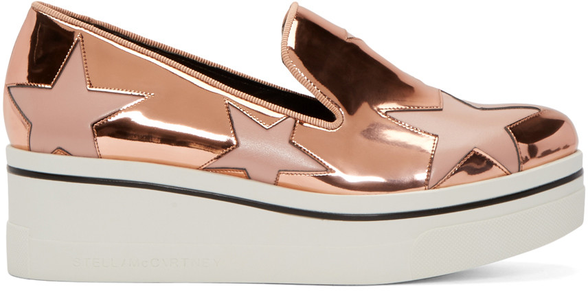 BINX METALLIC STAR SLIP-ON SNEAKER, COPPER TEA ROSE, ROSE GOLD