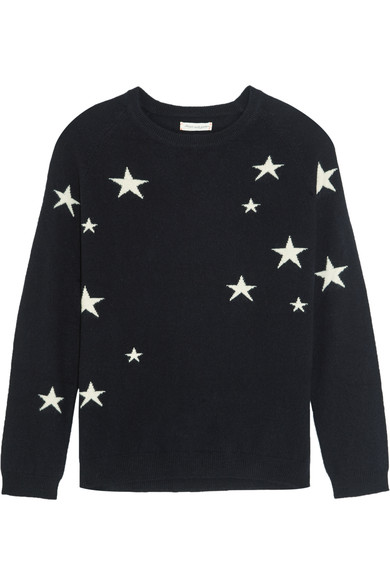 cashmere slouchy star intarsia sweater