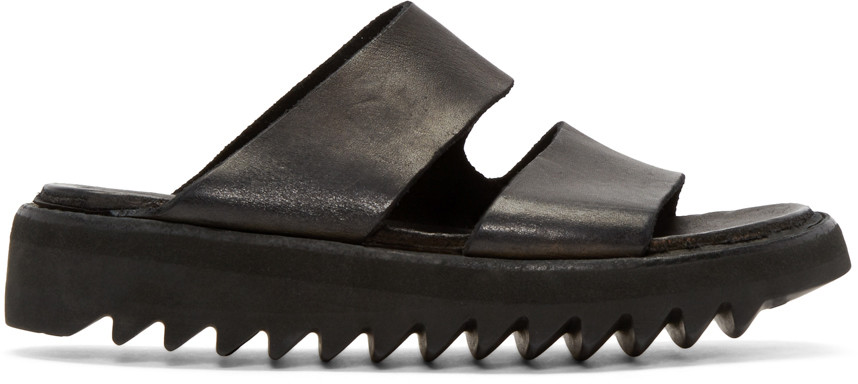 GUIDI Leather Double Strap Sandals D4kErt