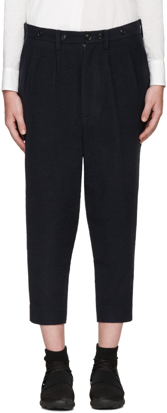 Y's Wools Navy Wool Trousers