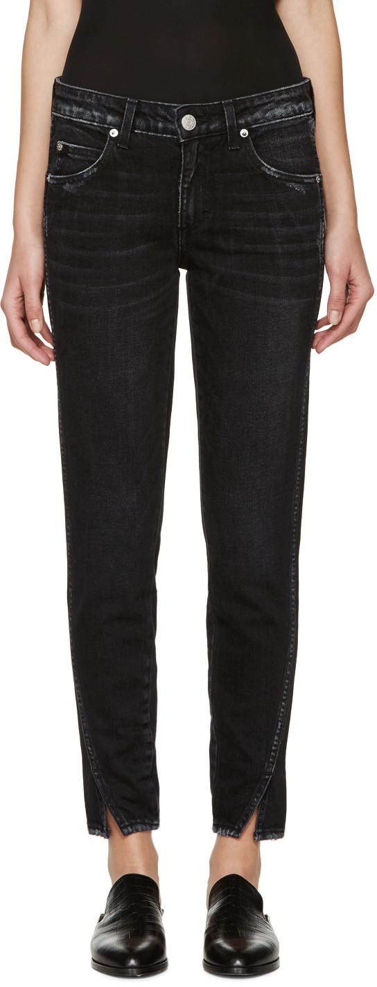 Black Slim Twist Jeans